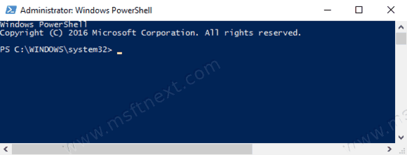 Open Windows Powershell Admin