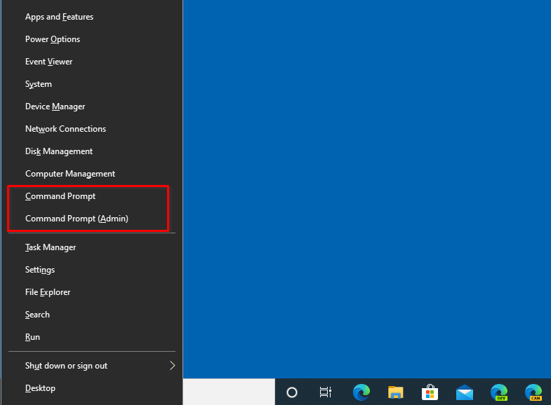 Replace PowerShell with Command Prompt in Start Button Context Menu