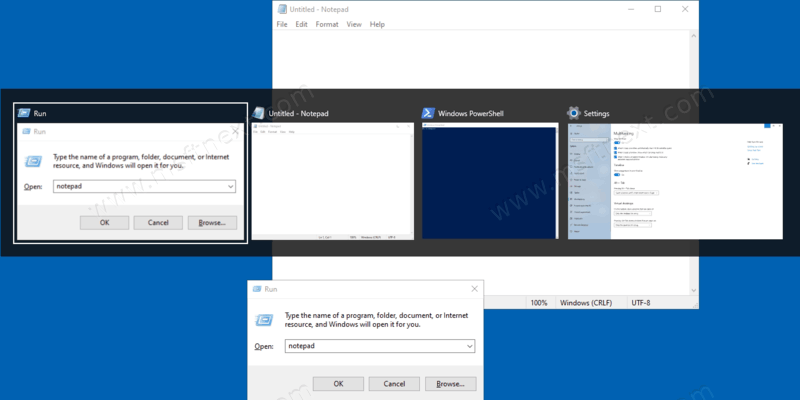 Show Windows from All Desktops in Alt+Tab and Taskbar in Windows 10