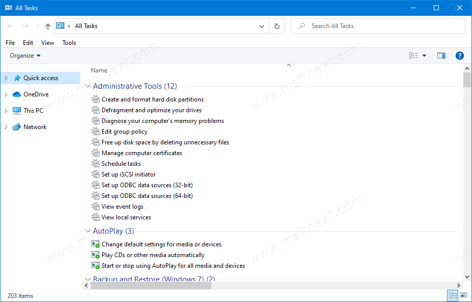 How to Enable God Mode in Windows 10 To Access All Settings