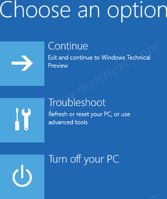 Windows 10 Advanсed Startup Options