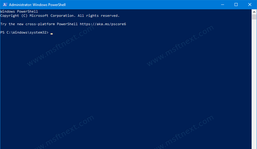 PowerShell On Windows 10 As Administrator