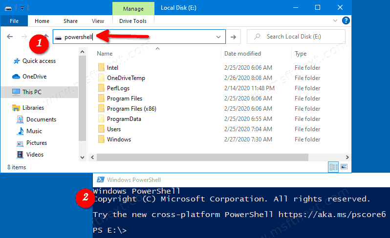 Windows 10 Open Powershell From File Explorer