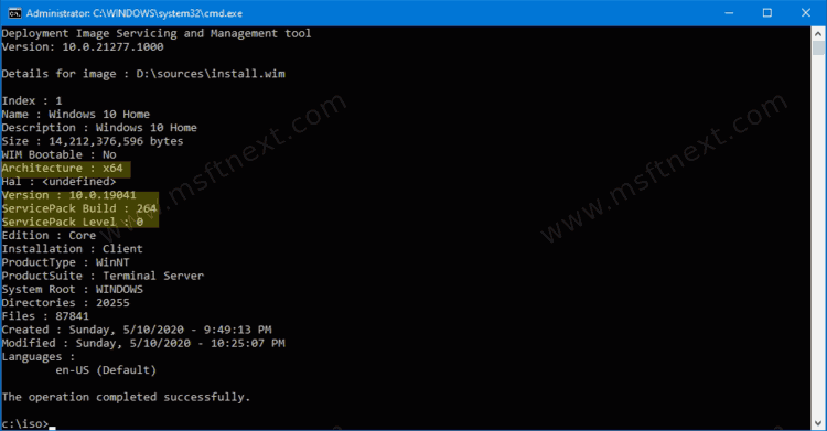 Find Windows version, build and edition from ISO file