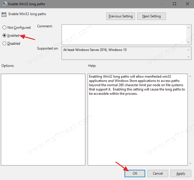 Enable Long Path Support in Windows 10