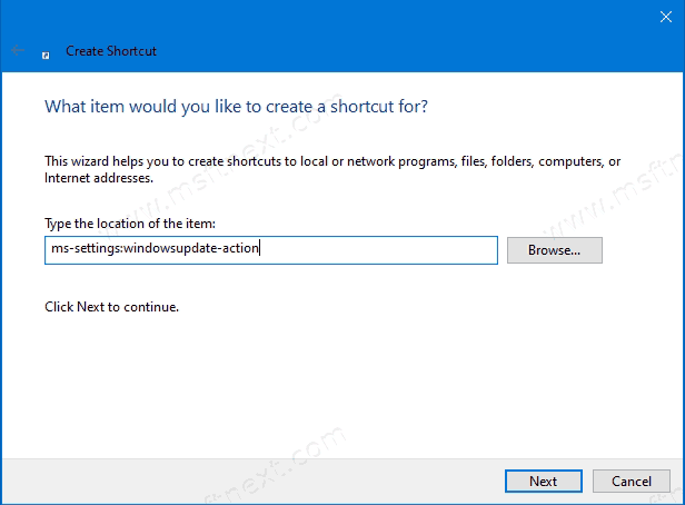 How to Create a Check for Updates Shortcut in Windows 10