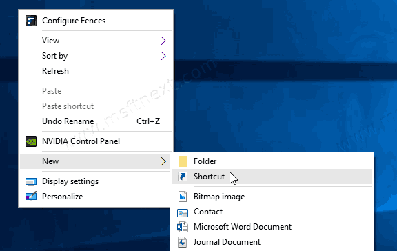 New Windows 10 Shortcut