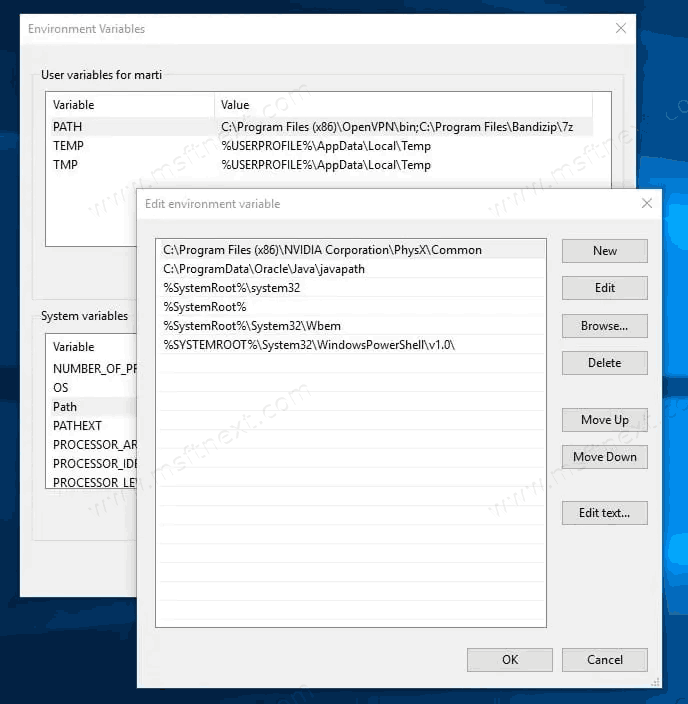 How To Find All Environment Variables in Windows 10