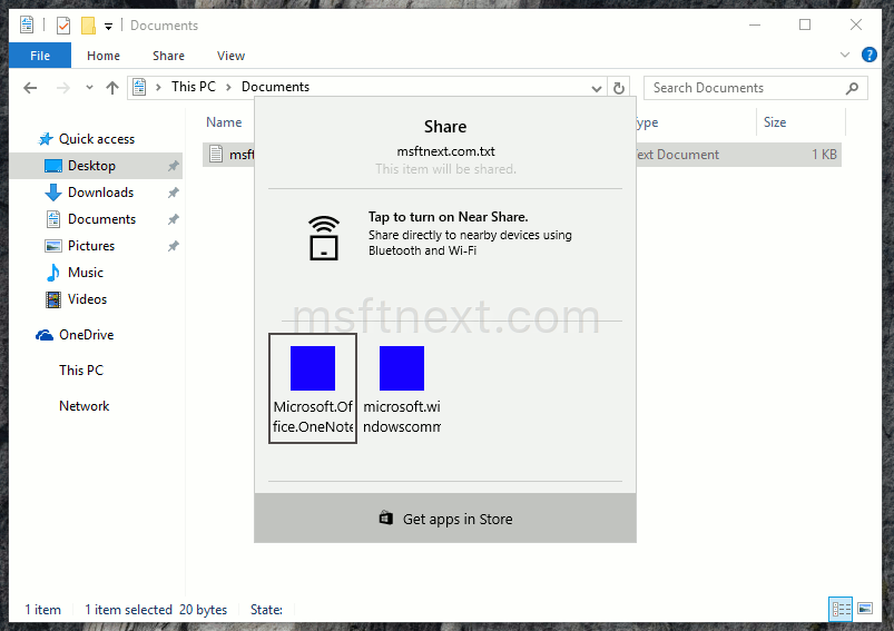 New Share UI – enable in Windows 10