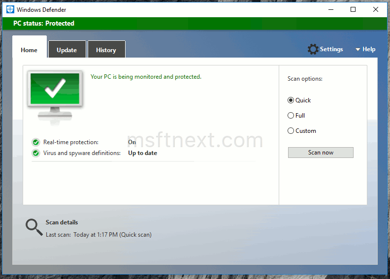 Enable Adware and PUA protection in Windows Defender
