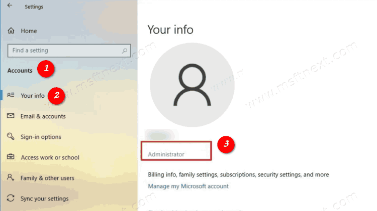 Check if Your Account is Administrator in Windows 10