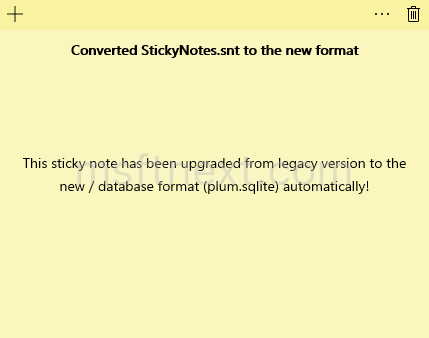 Stickynotes Convert To Windows 10 Format