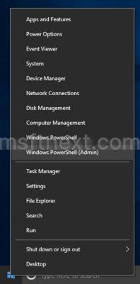 Windows 10 Creators Default Win X