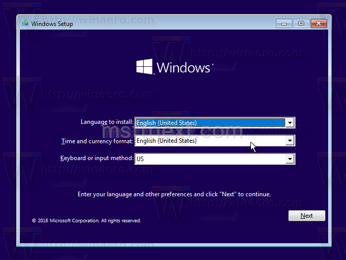 Install Windows 10 from USB Drive