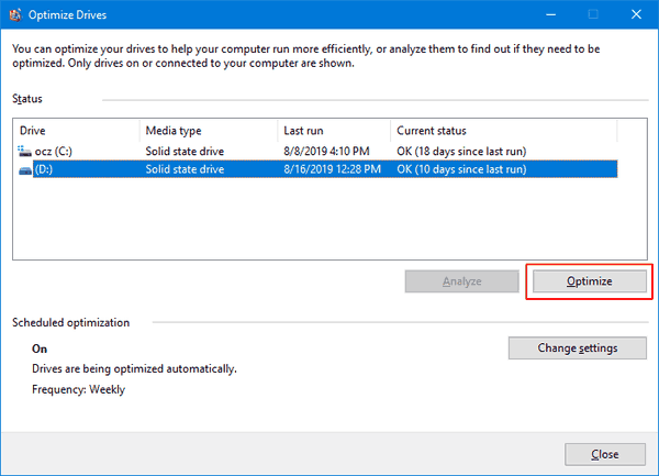 Windows 10 Defrag Drive 4