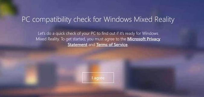 Check Mixed Reality Windows 10
