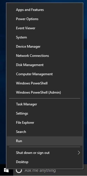 Windows 10 Winx Run