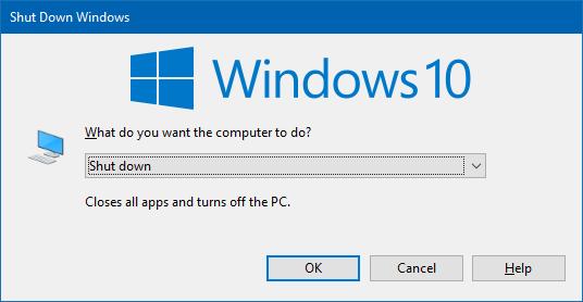 Shutdown Windows Dialog