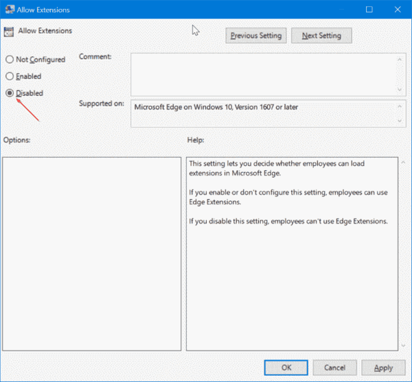 Prevent Installing Extensions In Microsoft Edge 1