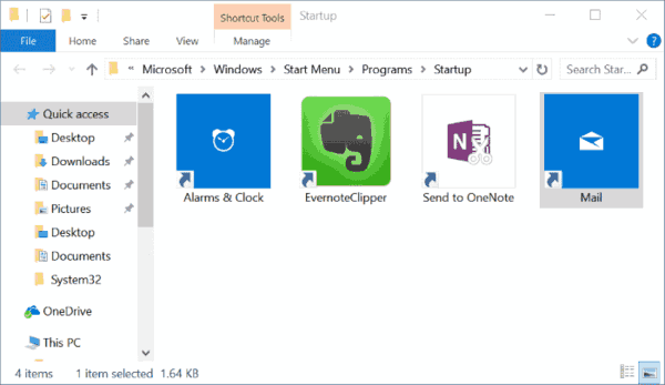 Manage Windows 10 Startup Apps