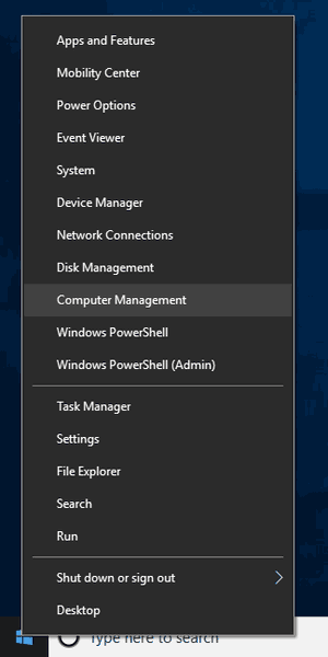 Windows 10 Open Computer Management