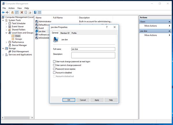 Windows 10 Enable User Account 2