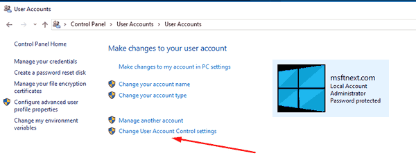 Disable UAC In Windows 10 Pic1