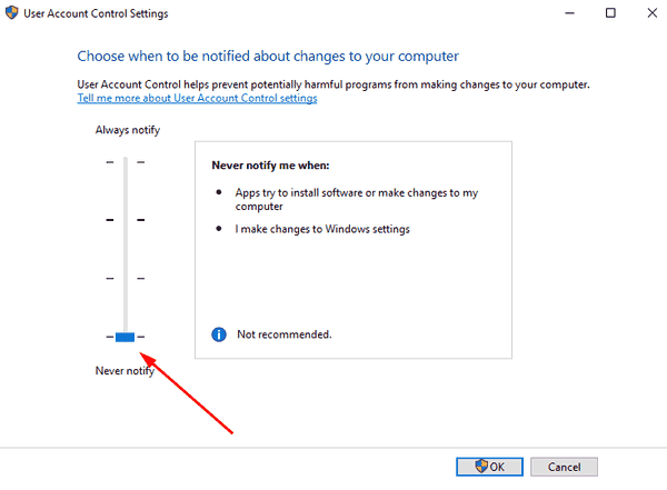 Disable UAC In Windows 10 Pic2