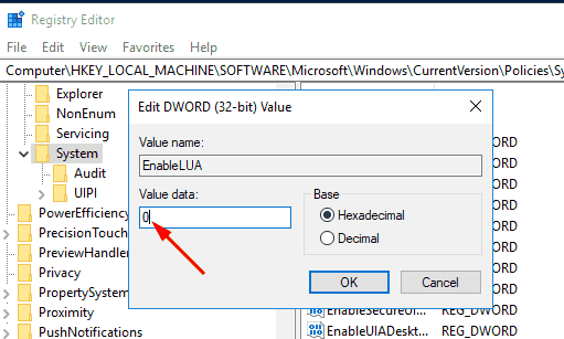 Disable UAC In Windows 10 Pic3