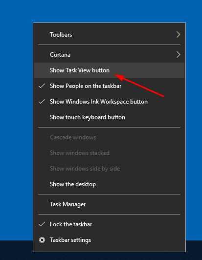 Windows 10 Hide Task View Button