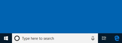 windows 10 search and task view enabled