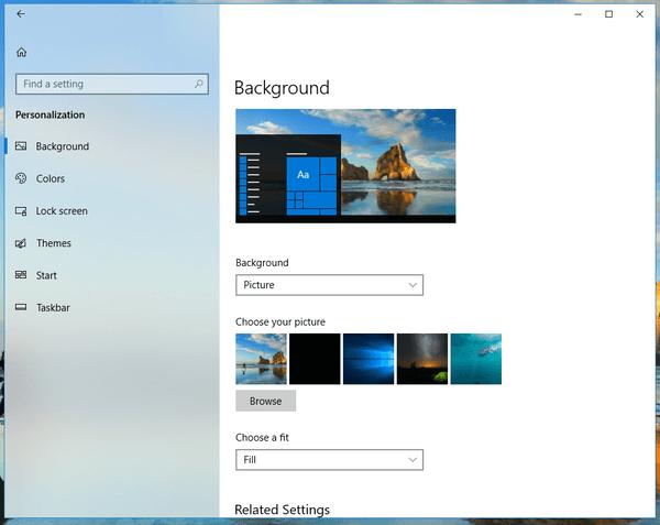 Disable The Fluent Design In Windows 10