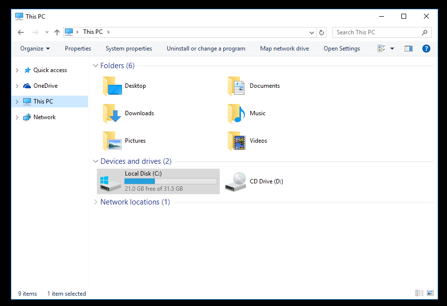 Windows 10 Explorer Without Ribbon