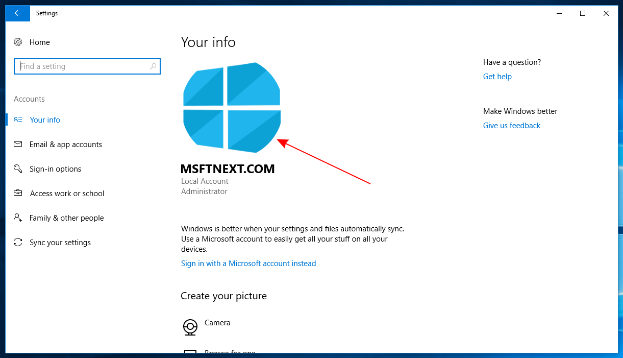 Msftnext User Account Avatar