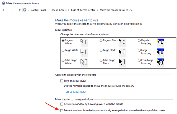 DIsable Aero Snap In Windows 10 Pic2