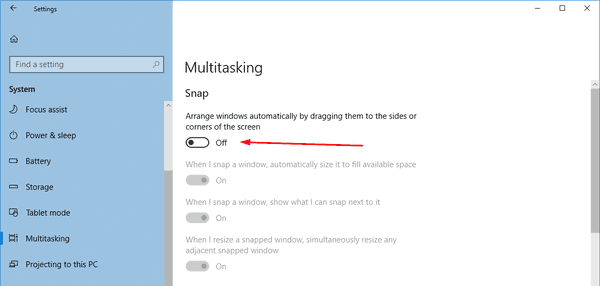 DIsable Aero Snap In Windows 10 Pic3