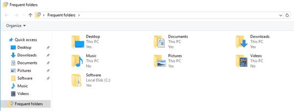 Pin Frequent Folders To Start Or Taskbar In Windows 10