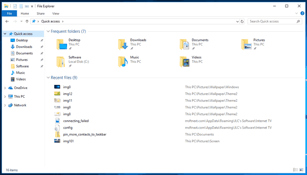 Quick Access Folder In Windows 10