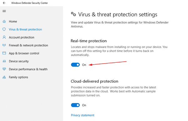 Windows 10 Disable Defender Temporarily