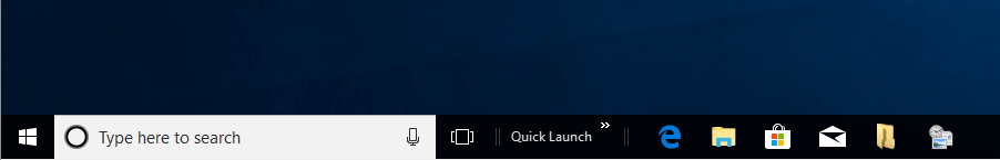 Windows 10 Enable Quick Launch Toolbar Step 5