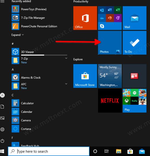 Windows 10 Open Photos