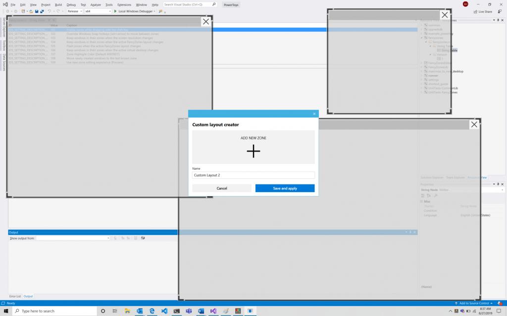 PowerToys FacyZones Window Editor