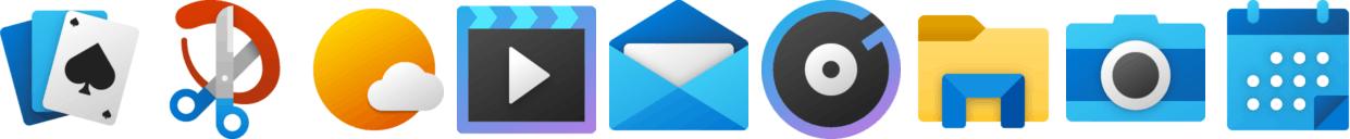 New Windows 10 App Icons