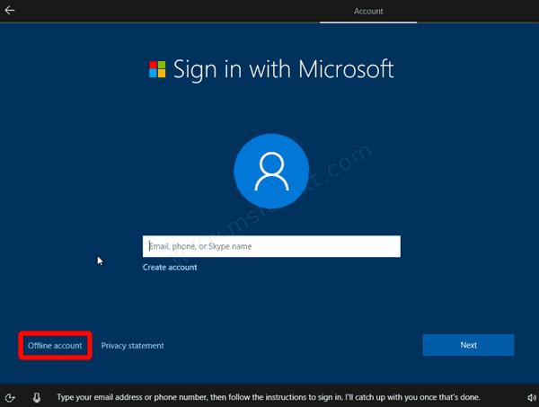 Windows 10 Offline Account Link Oobe