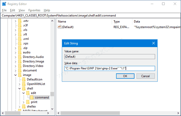 Windows 10 Change App For Edit Image Command