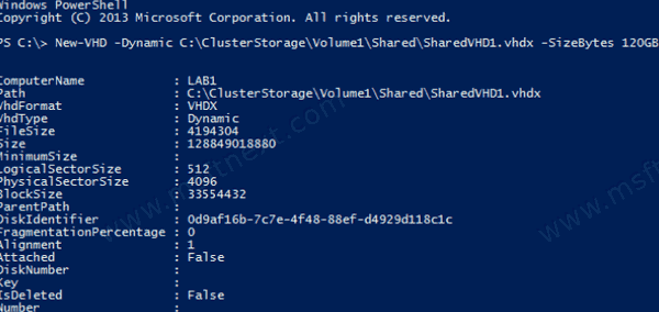 Create New VHD With Powershell