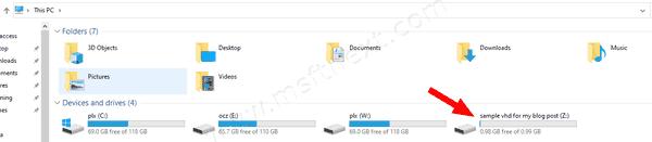 DiskPart Attach VHD 6