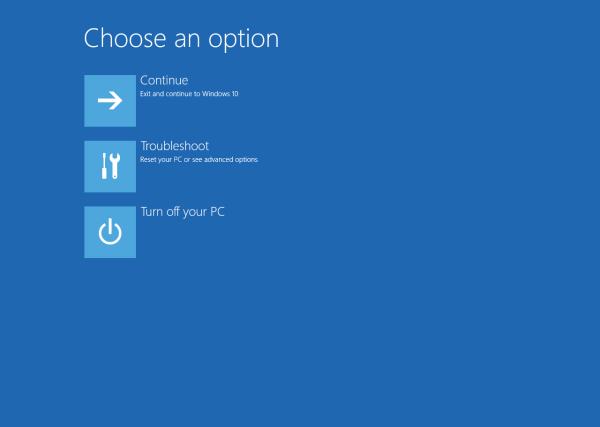 Create Shortcut to Advanced Startup Options in Windows 10