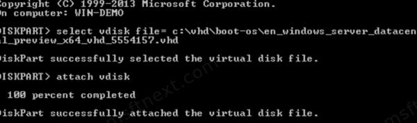 Diskpart Select Vdisk