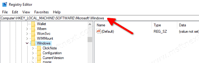 Open Registry Key Directly Windows 10